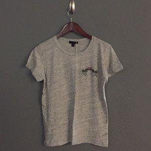 Grey Zebra J. Crew Shirt NWT